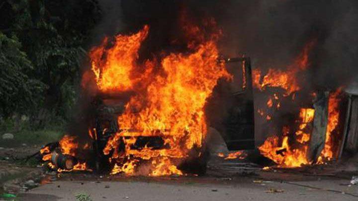 Naxalites fired poklane
