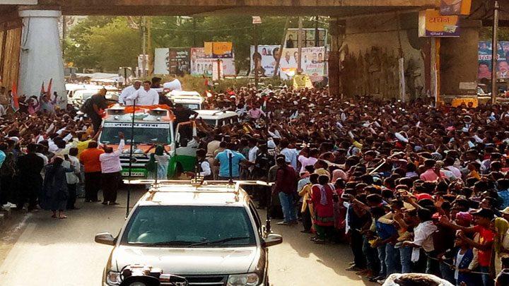 rahul road show durg