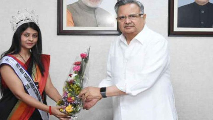 Chief Minister meets Misses India Tourism Queen
