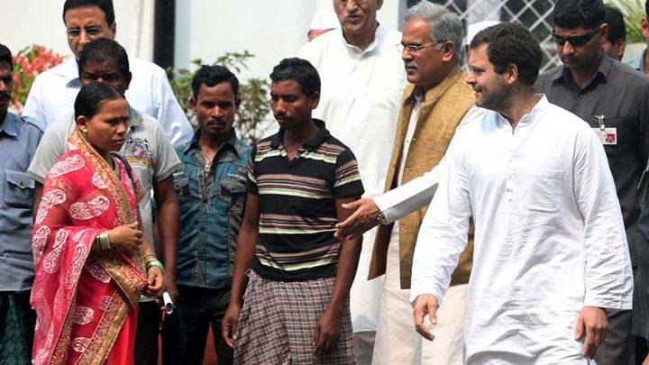rahul in bastar