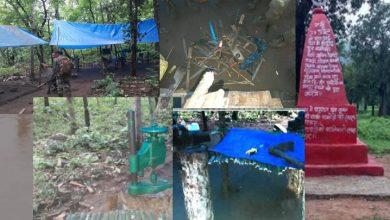 Camp destroyed