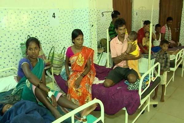 Ambeda's primary health center in stretcher