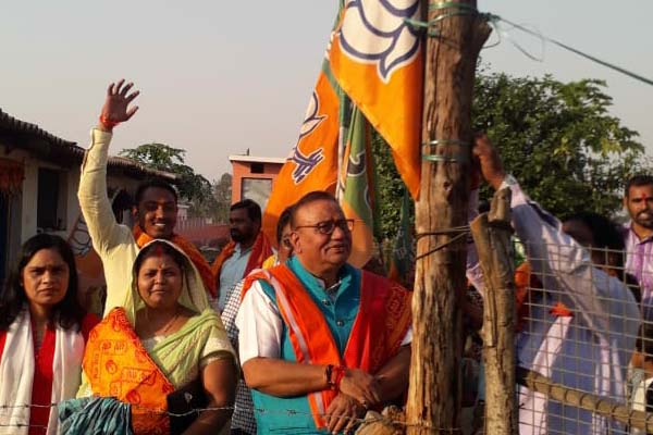 Chandrasekhar Sahu planted party flag in homes