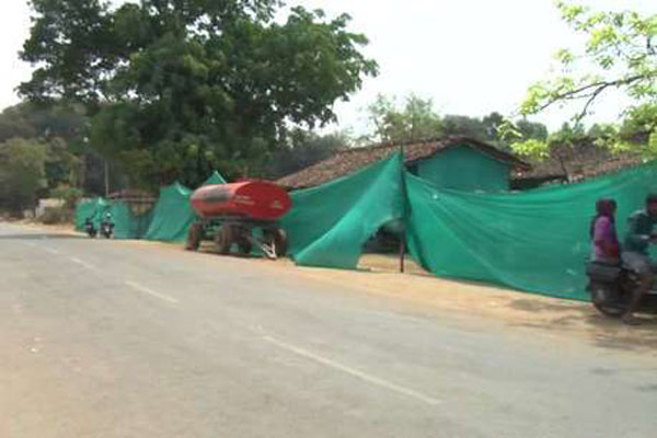 Arandi village villagers are forced to live in the tent