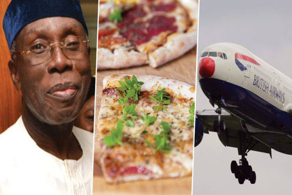 People here tend to order pizza from another country flight